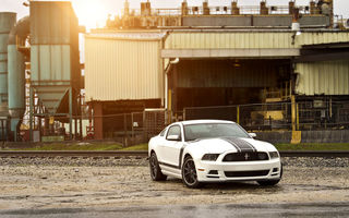 Картинка Ford, мускул кар, форд, белый, спортивные полосы, блик, white, Boss 302, Mustang, muscle car, мустанг