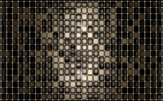 Обои deep, 3D, black, squares, gold, shape