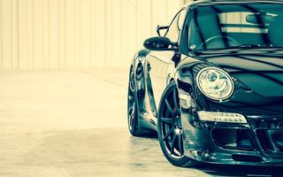 Обои porsche, supercar, 911, turbo, black, car, порше
