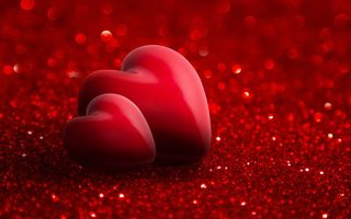 Обои romantic, hearts, love, valentine`s day, red