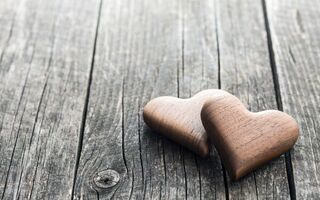 Картинка сердечки, wood, valentine's day, romantic, wooden, love, hearts