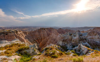 Обои South Dakota, скалы, Badlands, каньон, природа