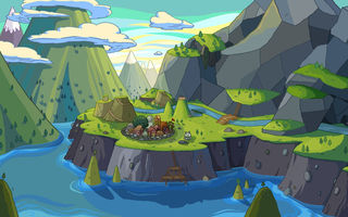 Картинка mountains, Adventure Time, water