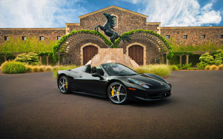 Обои Ferrari 458 Spider, hq, авто, black, supercar, феррари