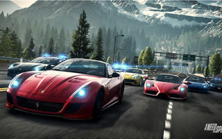 Обои Need For Speed : Rivals, Дорога, 599 Gto, Enzo, Group, F12 Berlinetta, 458 Italia, Race, Пейзаж, Ferrari, Горы