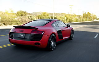 Обои Audi, R8, Red matte, Supercar, Concavo Wheels
