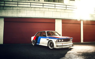 Обои GTR, BMW, блик, race car, GFL, white, front, E21, 3 Series, обвес