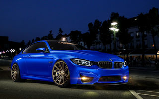 Картинка 4 Series, M4, blue, BMW, front
