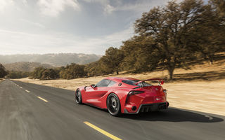 Обои car, speed, FT-1, road, nice, Concept, Toyota