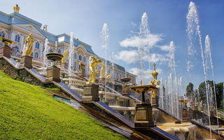 Обои architecture, Петродворец, summer, Петергоф, Palace, дворец, Saint-Petersburg, каскад, Fountains, cascade, Russia, Санкт-Петербург, Россия, архитектура, Фонтаны, лето, landscape, Peterhof