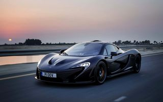 Картинка Дорога, Speed, P1, Supercar, Black, Вечер, McLaren, Макларен, Черный, Машина