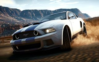 Обои Game, Ford, Дрифт, Занос, Drift, Песок, Need For Speed, Машина, Shelby, Шелби, NFS, Форд, Мустанг, Mustang, Shift, Speed, Dust, Игра, Rivals, Скорость