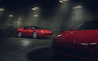 Обои Supercar, Ferrari, Superamerica, Front, Red, Garage