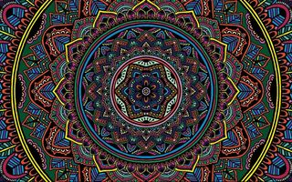 Обои color, colorful, texture, selective coloring, Mandala