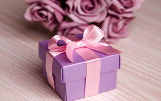 Обои цветы, любовь, розы, romantic, violet, Valentine's Day, flowers, roses, love, gift