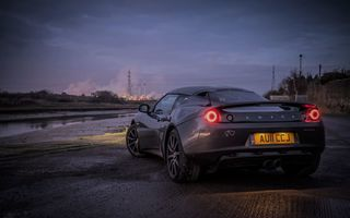 Обои LOTUS, evora, night, black, auto