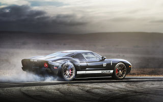 Обои burnout, supercar, ford gt