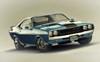 Картинка Dodge, Car, Muscle, 1970, R/T, Challenger