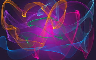 Обои abstract, fractal, neon, colors