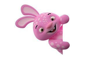 Обои 3d, character, pink, monster, funny, cute, smile, rabbit
