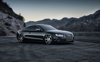 Обои audi, car, black, tuning, rs5