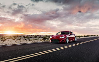 Картинка scion fs-r, закат, car, tuning, lunchbox photoworks, toyota gt86