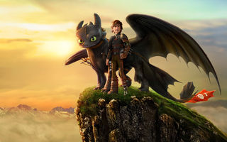 Обои How To Train Your Dragon 2, Movie, Action, Viking, DreamWorks, Jay Baruchel, Fantasy, Dragon, Animation, Adventure, Hiccup, Comedy, Family