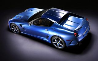 Обои Ferrari, Феррари, Superamerica, Car, Blue, Sportcar, Автомобиль, Машина