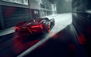 Обои Lamborghini, Rear, Speed, Terzo Millennio, Hypercar, Light