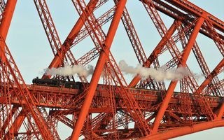 Обои мост, поезд, Scotland, Forth Bridge, вагоны
