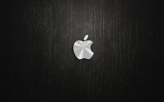 Обои logo, apple, logotipo, silver