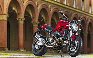 Обои Ducati, Red, Monster, 821, 2015