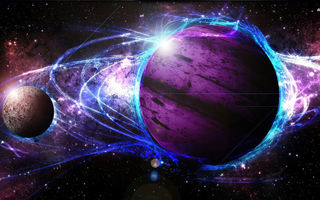 Обои cosmos, star, energy, planet, galaxy, light