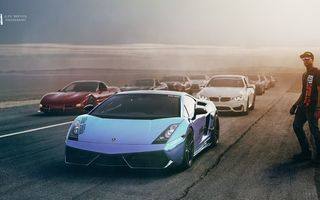 Обои Lamborghini, Alex Murtaza, Chevrolet, Ford, Race, Exotic, Nissan, BMW, Cars