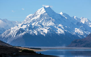 Обои New Zealand, снег, горы, озеро, Aoraki National Park, Mount Cook