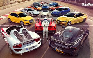 Обои BMW M4, Volkswagen Golf, Jaguar F-Type, McLaren P1, Supercars, Top Gear, Porsche 918, Chevrolet Corvette C7, Stig