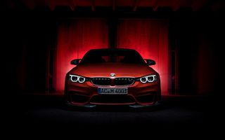 Обои BMW, M4, front, F82, Coupe, red