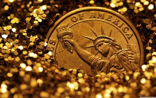 Картинка currency, Statue of Liberty, gold