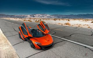 Обои McLaren, Exotic, Supercar, Valley, Front, P1, Hypercar, Sand, Orange, Volcano, Death, Doors, Hybrid