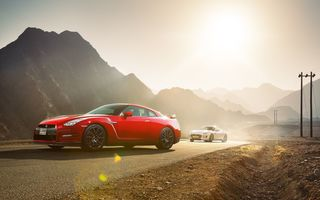 Обои Nissan, Coupe, GTR, Red, Sport, White, F-Type, Japan, Jaguar, Cars