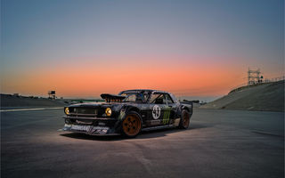 Обои Ford, SEVEN, Rear, Sky, Mustang, Energy, Sunset, Ken, Gymkhana, 1965, RTR, Monster, 845 hp, Block, Hoonicorn