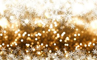 Обои зима, боке, snow, golden, Christmas, снежинки, snowflakes, снег, winter, bokeh