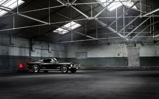 Обои Ford, Warehouse, Mustang, Fastback, Muscle, Classic, Black, Car