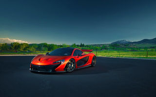 Обои McLaren, P1, Summer, Blue, Hypercar, Orange, Sky, Nature, Supercar, Exotic, Front