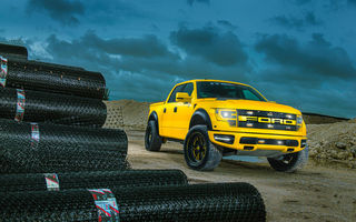 Обои Ford, F-150, Sub-Machine, Yellow, MC Customs, RaptorTrax