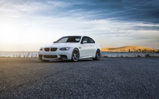 Обои BMW, E92, Wheels, Vorsteiner, Car, Color, M3, Front, White, Flow, Forged