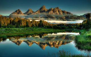Картинка Beaver, Grand, Landscapes, Ponds, Reflections, Park, National, Hole, Jackson, Teton