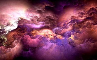Обои abstract, clouds, облака, colors, unreal