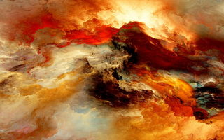 Обои abstract, space, clouds, unreal, colors, облака