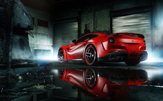Обои Ferrari, Red, Wheels, MC Customs, Rear, Supercar, Body, ADV.1, F12, Berlinetta, Wide